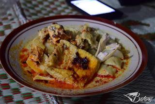 masakan khas Jawa Tengah Lontong Lemprak asal pantura