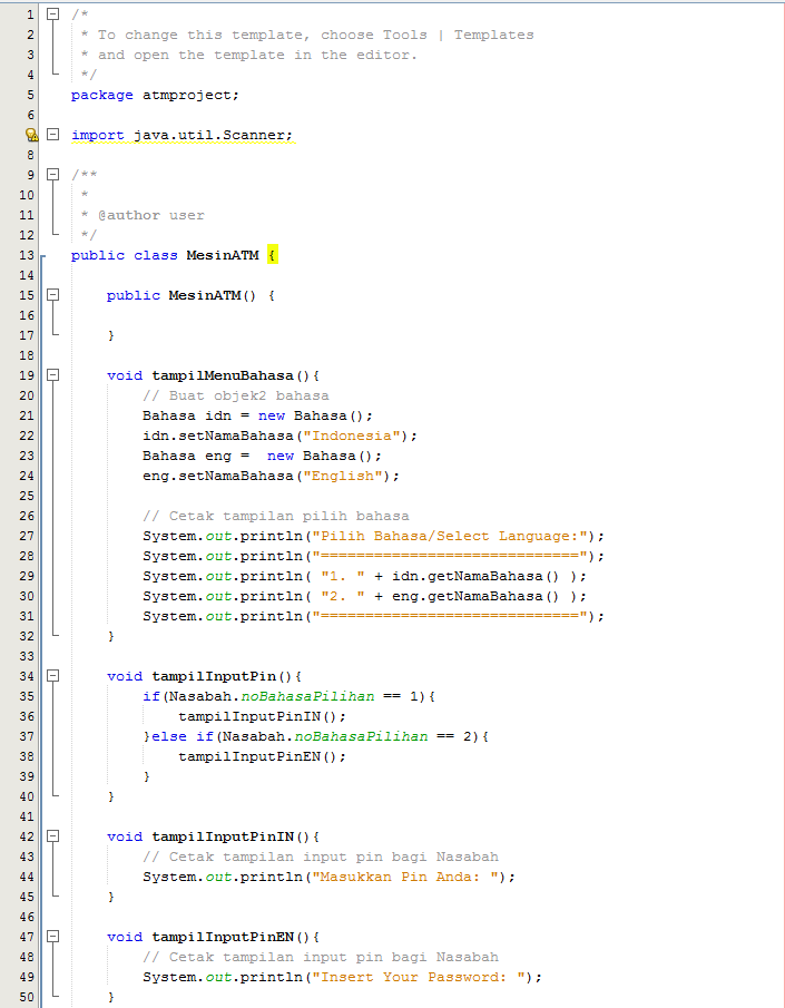 Program sederhana Java