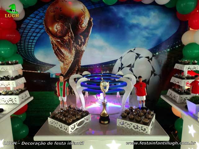Mesa temática festa Fluminense - Aniversário infantil
