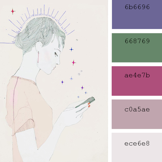 annabel briens illustration color palette