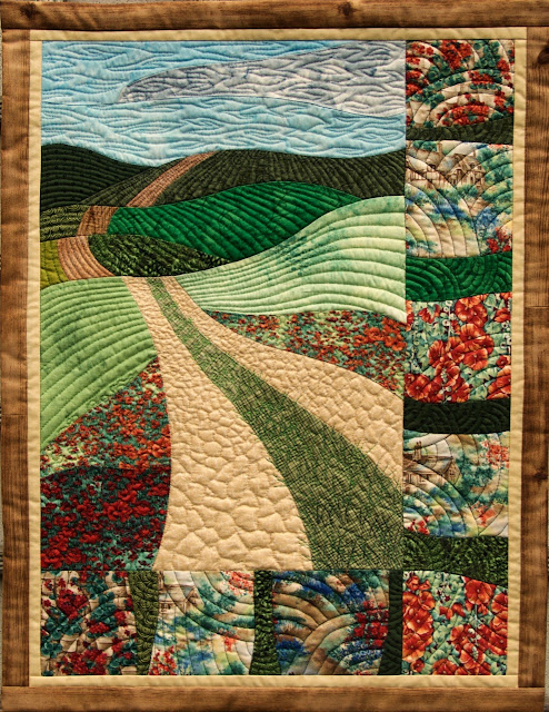curved pieced landscape