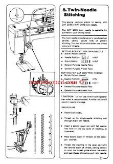 Sewing Machine Instruction Manuals: Singer Model 974