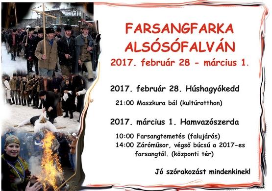 Farsangfarka Alsósófalván - 2017