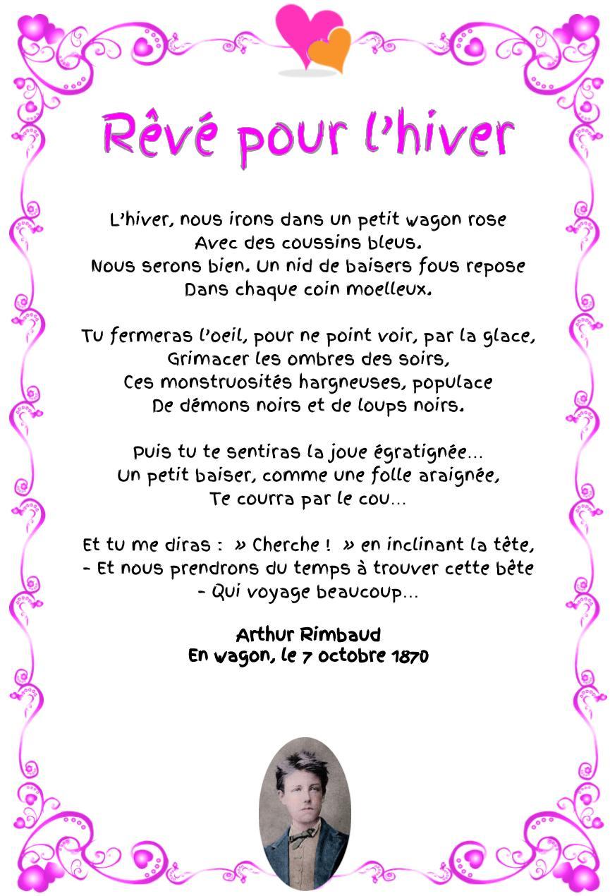 Rêvé pour l'hiver, poème d'Arthur Rimbaud