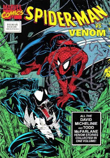 Spider-Man vs. Venom All the David Michelinie and Todd McFarlane Venom stories collected in one volume Cover Marvel trade paperback tpb comic book