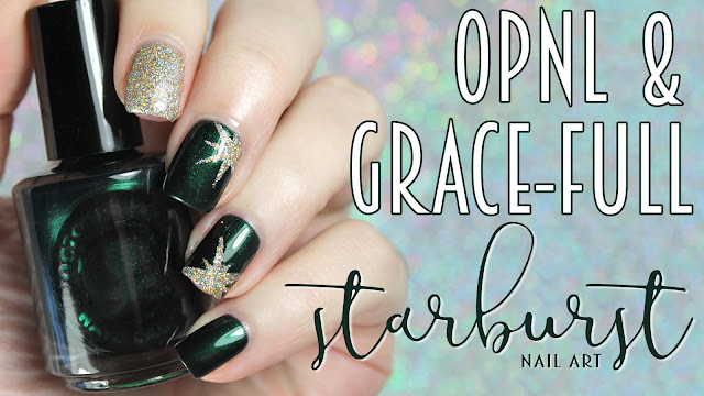 Octopus Party Nail Lacquer + Grace-Full Nail Polish | Starburst Nail Art