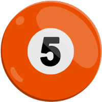 five of solids pool ball