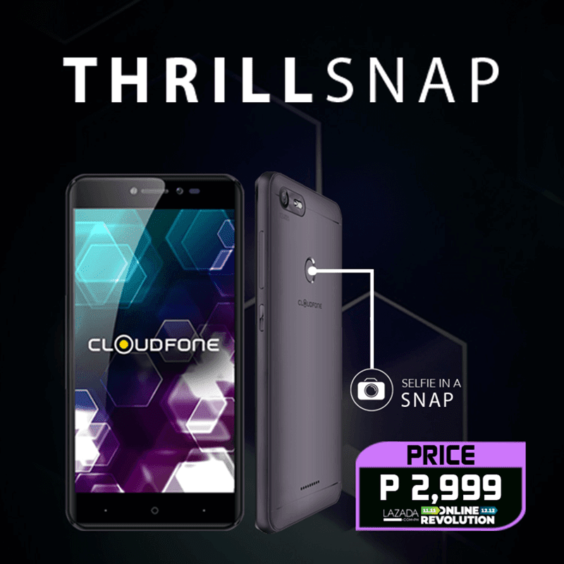 Sale Alert: Cloudfone Thrill Snap at Lazada retails for PHP 2,999!