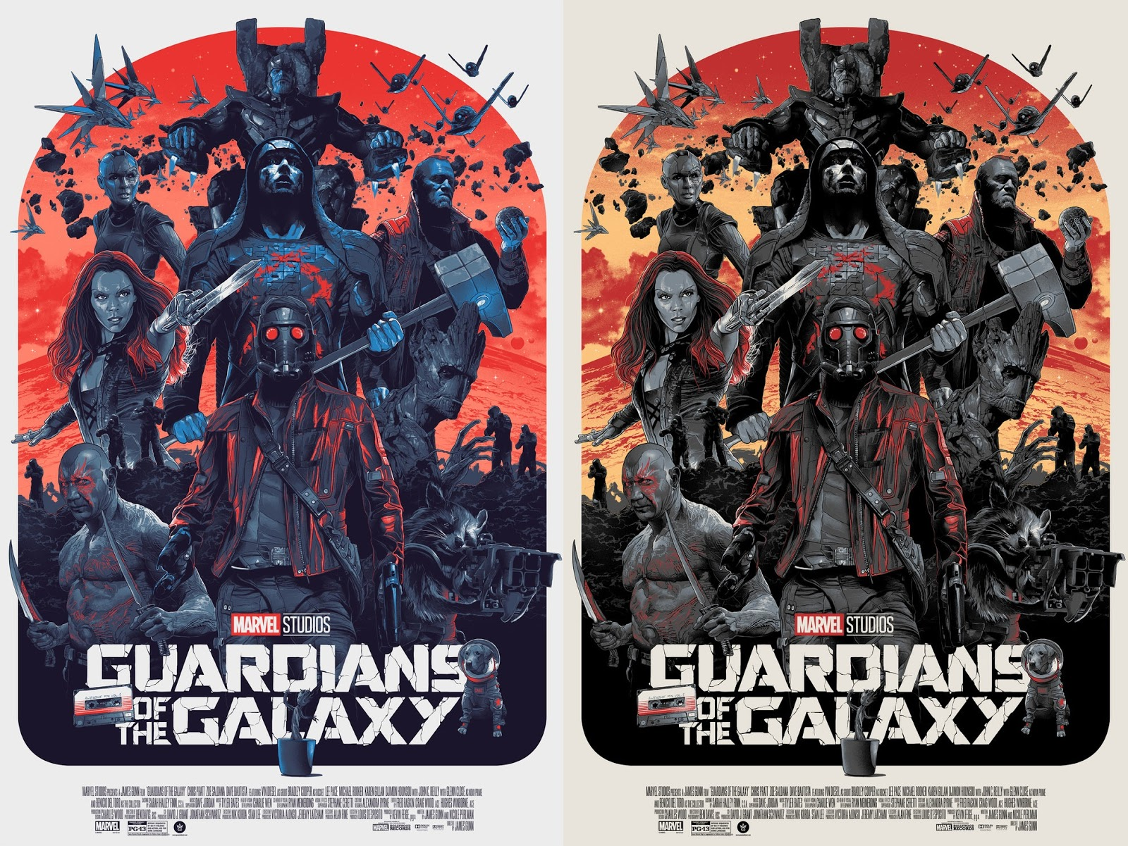The Blot Says...: Guardians of the Galaxy Movie Poster Screen Print ...
