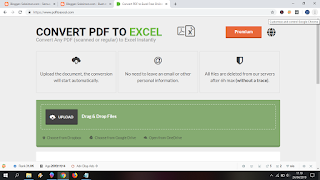 Cara merubah PDF ke Excel online