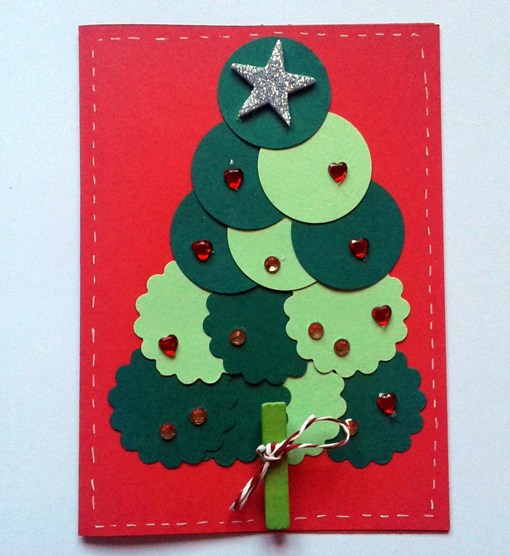 Tarjetas navide as con material reciclado - Hacer una tarjeta navidena ...
