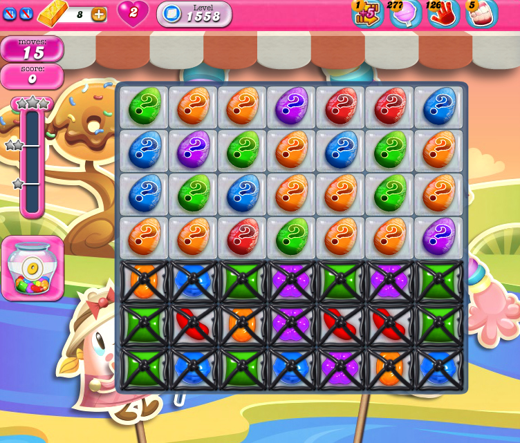 Candy Crush Saga 1558