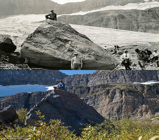 temuan batu glasier yang mencair