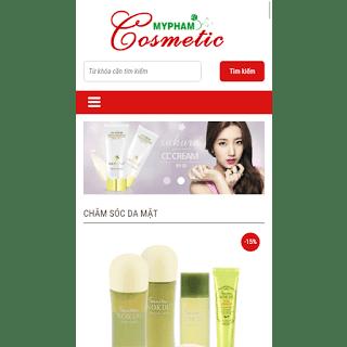 template bán hàng mỹ phẩm cosmetic chuẩn seo