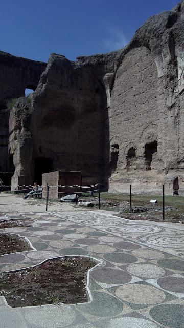 Mosaico do piso das Termas de Caracalla