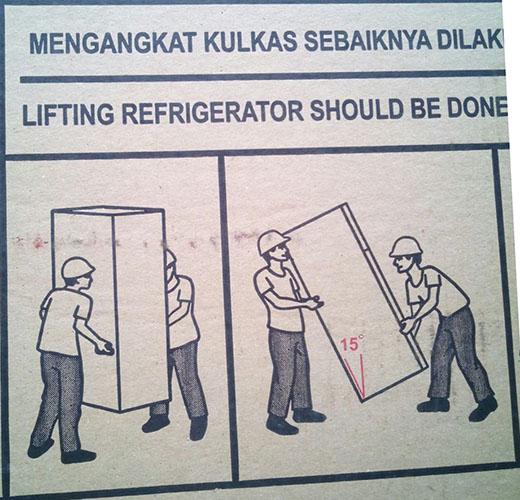 Cara mengangkat kulkas yang benar