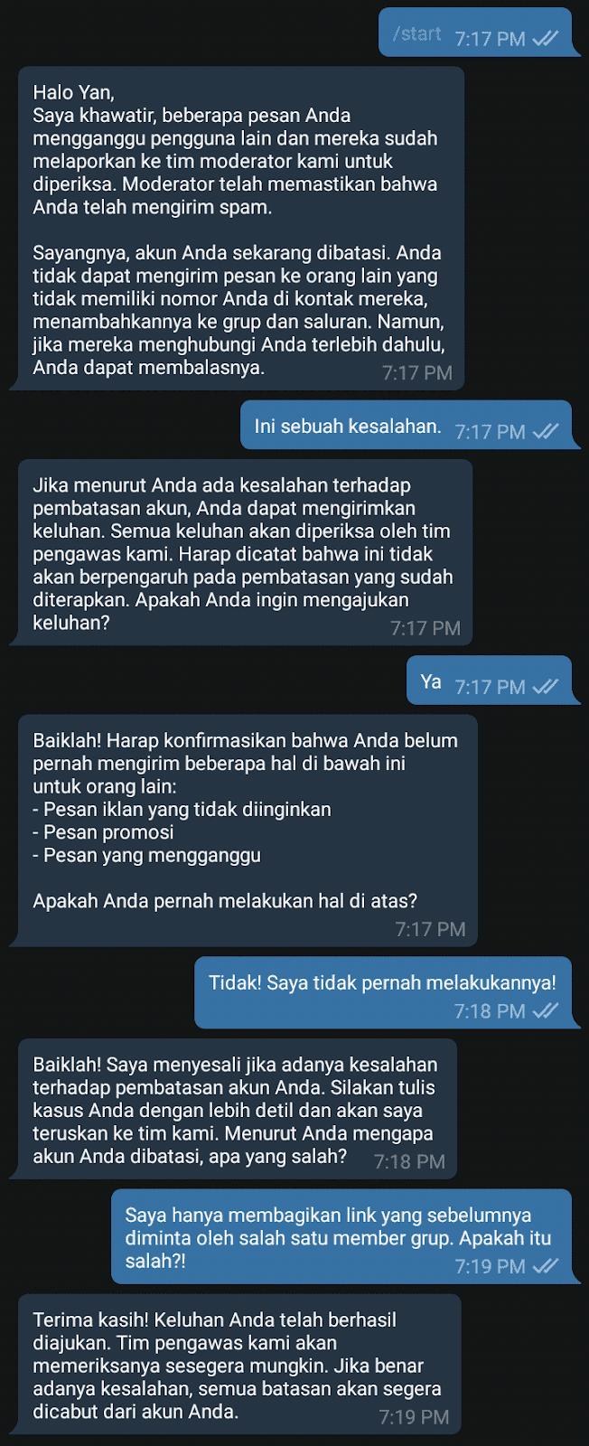 cara membuka telegram yang diblokir teman