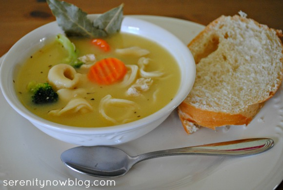 Chicken Tortellini Soup Recipe, from Serenity Now