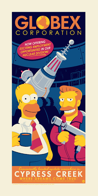 "San Diego Comic-Con 2018 Exclusive The Simpsons ""Globex Corporation"" Screen Print by Dave Perillo x Acme Archives"