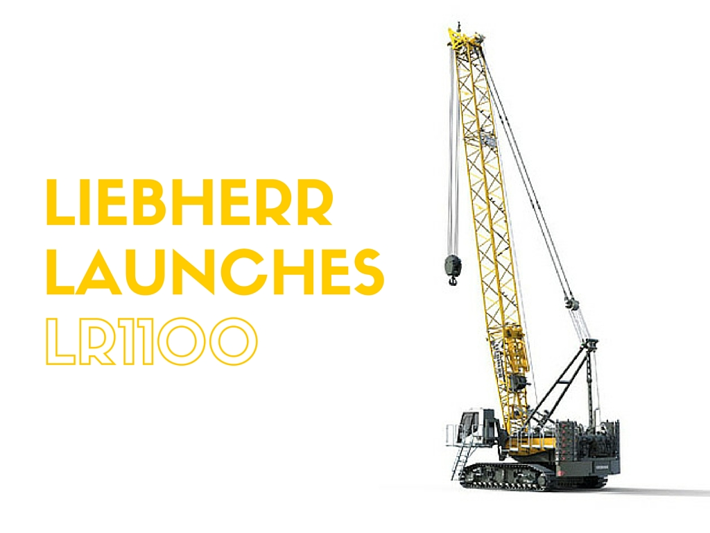 liebherr new 100 ton crawler crane launched