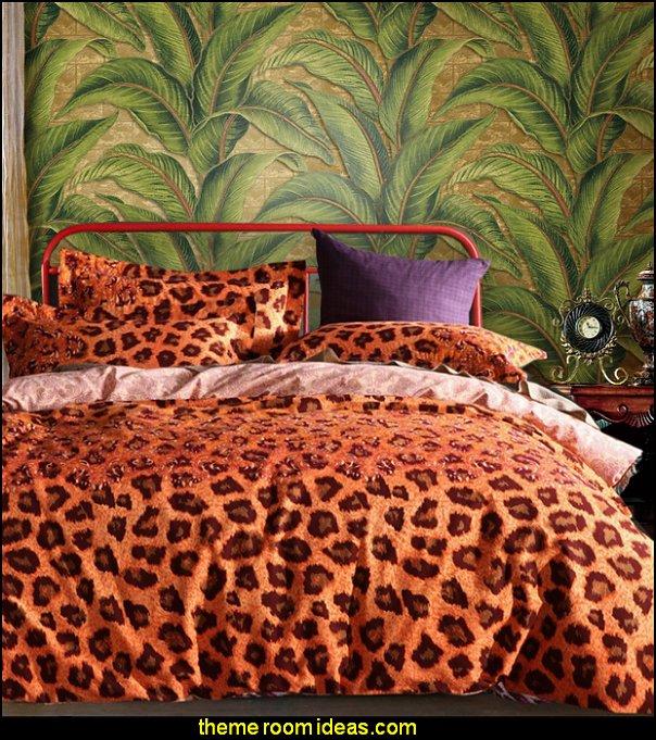 Leopard Bedding Safari Jungle Exotic Tropics Bedroom Decorating Ideas
