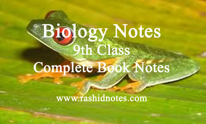 9th Class Biology Notes all Chapters PDF Download - Rashid Notes