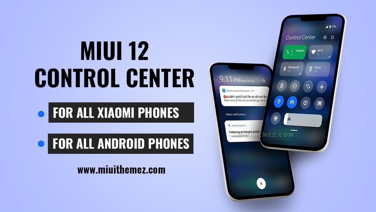 Get MIUI 12 Control Center on All Xiaomi Devices or Any Android Device