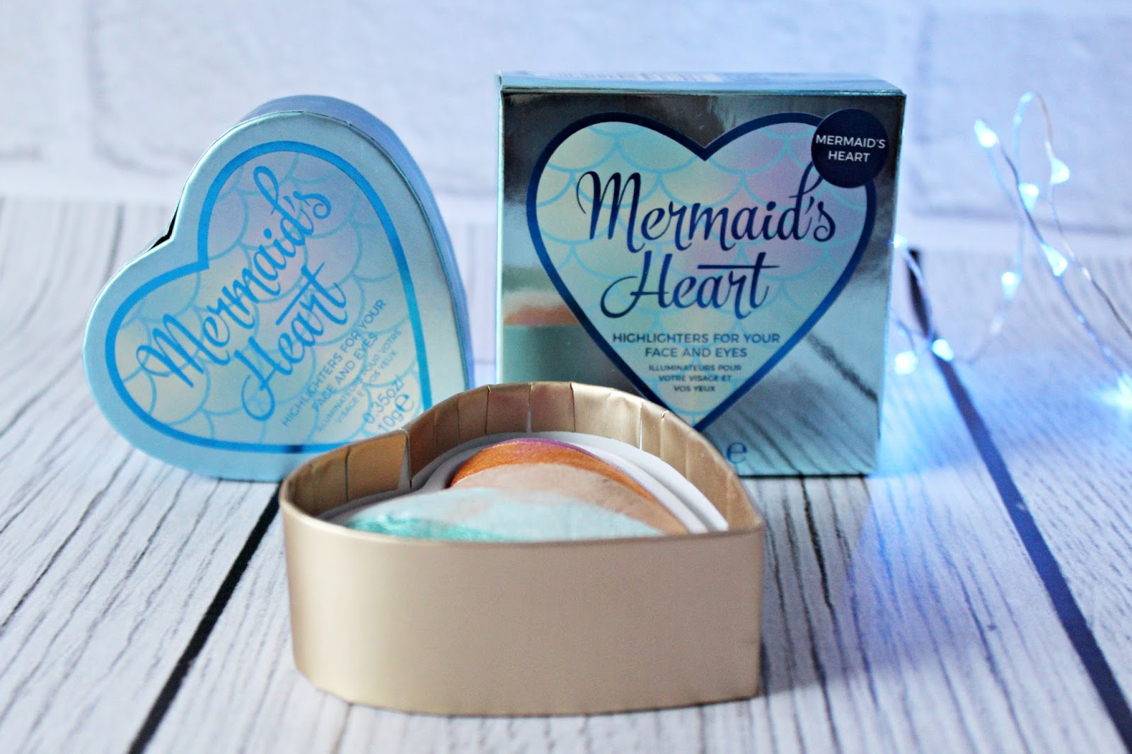 Dragon's Heart & Mermaid's Heart - Rozświetlacze I Heart Makeup - MAKEUP REVOLUTION
