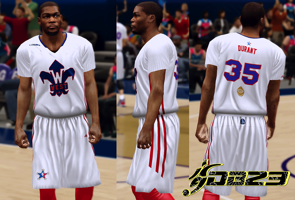 NBA 2K14 All-Star 2014 West Sleeved Jersey Mod Patch