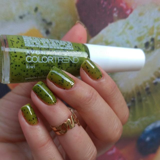esmalte kiwi avon color trend efeito pontilhado