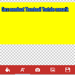 Cara membuat Thumbnail Youtube menarik Di android