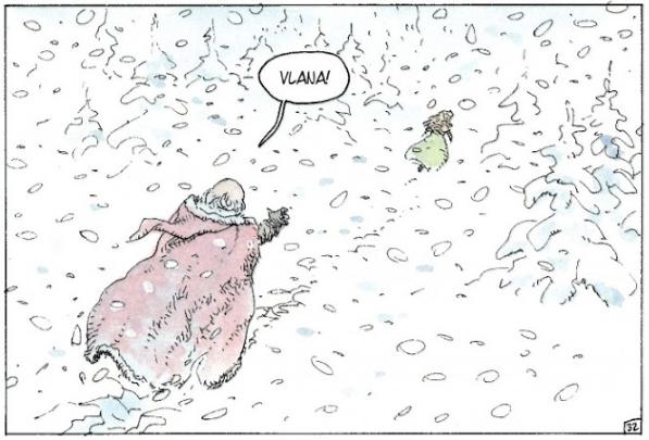Course-poursuite dans la neige, Thorgal