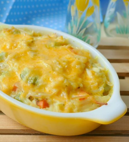 Crack Chicken and Rice Casserole Recipe #healthydinner #yummy