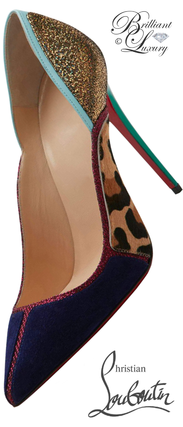 Brilliant Luxury ♦ Christian Louboutin So Kate Seraninia pointed-toe red sole pumps