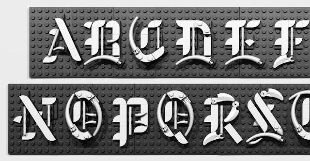 In Our Recent Contest Expanded His Efforts And Created A Full Set Of Capital Letters Gothic Script Also Known As Blackletter Using LEGOR Pieces