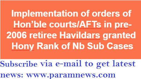 implementation-of-orders-of-honble-courts-pre-2006-retiree-havildars-hony-rank-paramnews