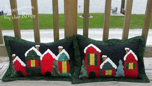 Holiday Lane Pillows @Freemotion by the River