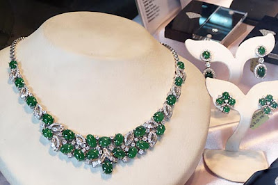 jade diamond necklace