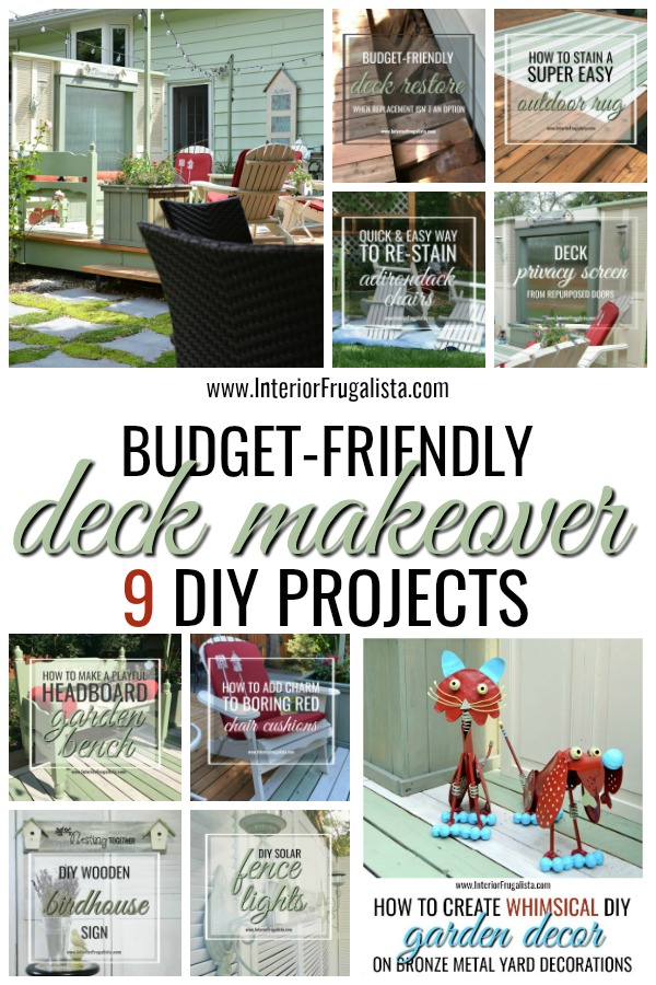 Budget Friendly Deck Makeover 9 DIY Projects
