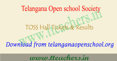 TOSS ssc hall tickets 2018-2019, ts open school 10th results