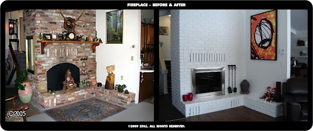 ©2009 Zoll - fireplace before and after