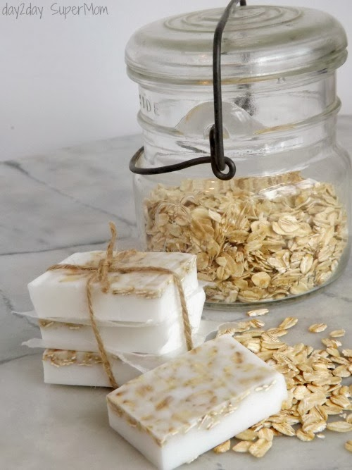 Sweet Almond Butter & Oatmeal Soap | Day2Day SuperMom