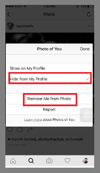 Image result for how to untag on instagram