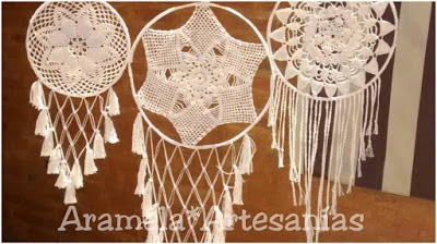 mandalas atrapasueños a crochet