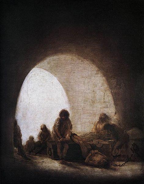 """Francisco de Goya y Lucientes, """"Una escena de la prisión"""""""