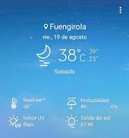 Fuengirolan lämpötilat kesäkuukausina
