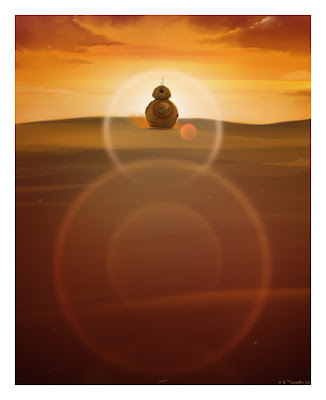 "Star Wars: The Force Awakens ""Where Do You Come From?"" BB-8 Print by Andy Fairhurst & Bottleneck Gallery"