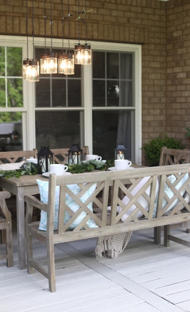 Outdoor dining area  on patio