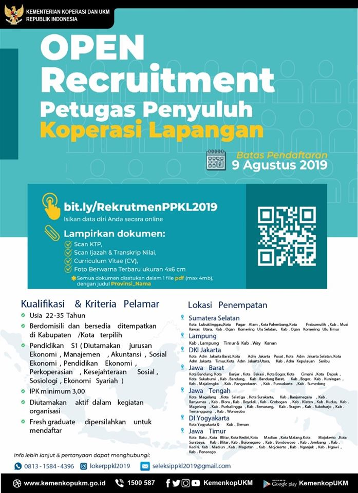 Open Recruitment PPKL Kementerian Koperasi dan UKM