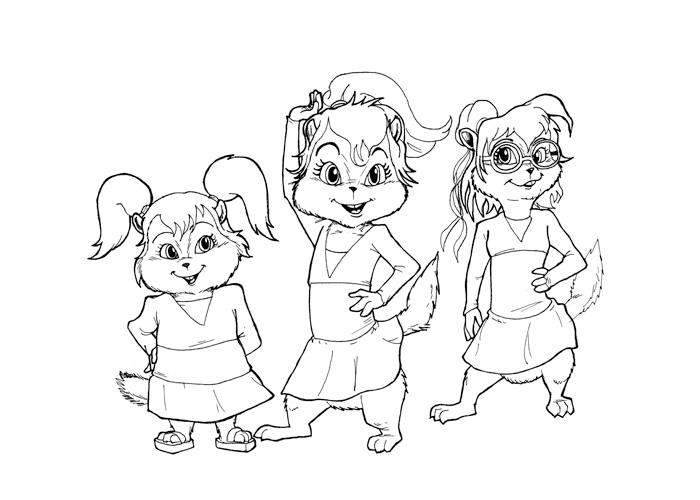 Desenhos Para Pintar Alvin E Os Esquilos Para Pintar Alvin E Os